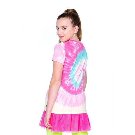 Girls' Mini Pop Kids Shimmer Multi-Colour Tie Die T Shirt - image 3 of 7