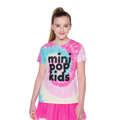 Girls' Mini Pop Kids Shimmer Multi-Colour Tie Die T Shirt - image 4 of 7