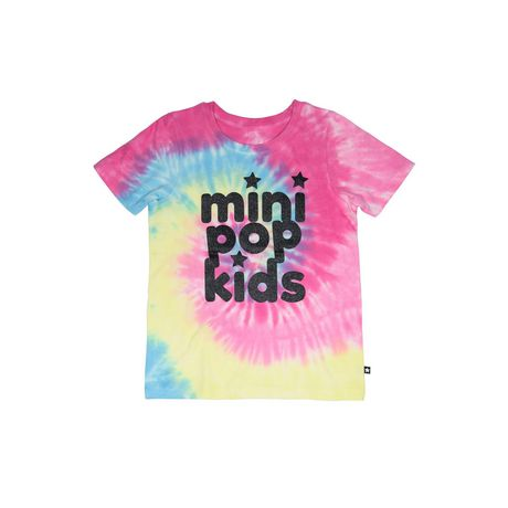 Girls' Mini Pop Kids Shimmer Multi-Colour Tie Die T Shirt - image 5 of 7