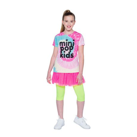 Girls' Mini Pop Kids Shimmer Multi-Colour Tie Die T Shirt - image 1 of 7