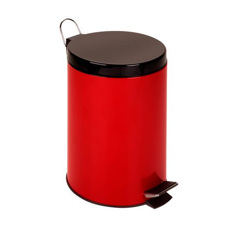 12l Step Trash Can Red Walmart Canada