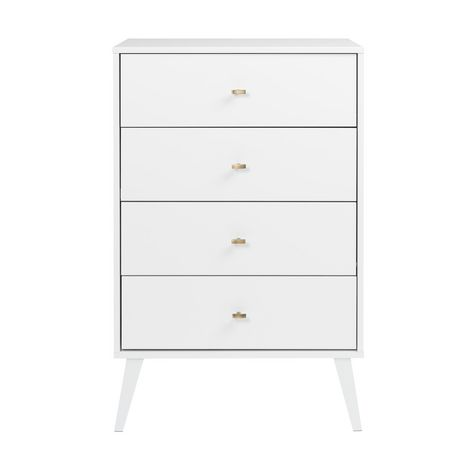 Prepac Milo 4-drawer Chest, White - image 3 of 9
