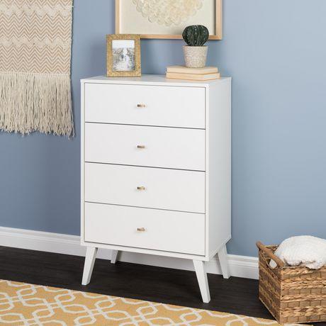 Prepac Milo 4-drawer Chest, White - image 5 of 9