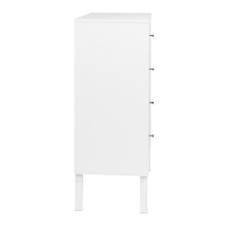 Prepac Milo 4-drawer Chest, White - image 4 of 9
