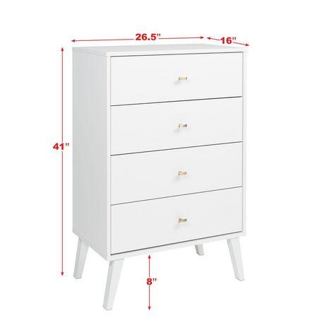 Prepac Milo 4-drawer Chest, White - image 9 of 9