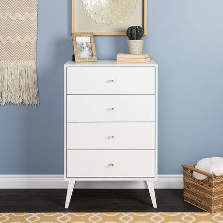 Prepac Milo 4-drawer Chest, White - image 1 of 9