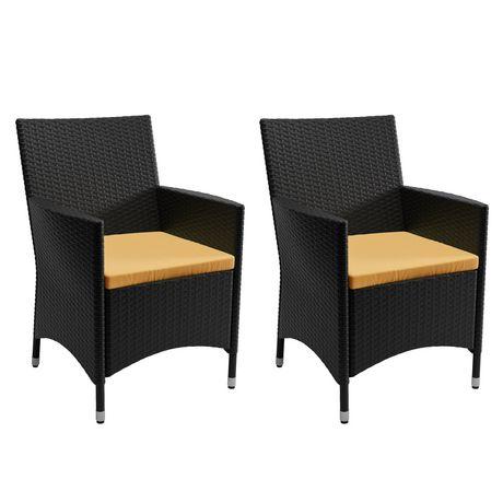 Sonax Park Terrace 7pc Charcoal Black Weave Patio Dining Set - image 4 of 6