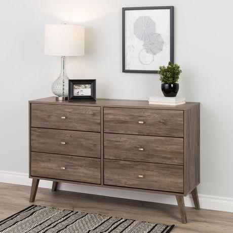 Prepac Milo 6-drawer Dresser, White - image 5 of 9