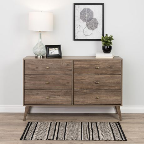 Prepac Milo 6-drawer Dresser, White - image 1 of 9