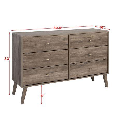 Prepac Milo 6-drawer Dresser, White - image 9 of 9