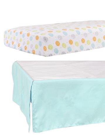 drap de contour et volant pour lit de b b de disney pooh walmart canada. Black Bedroom Furniture Sets. Home Design Ideas