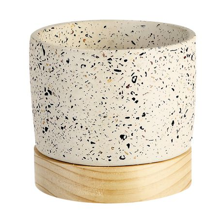 Sunset Beach by hometrends Speckled Stone Planter - image 1 of 1