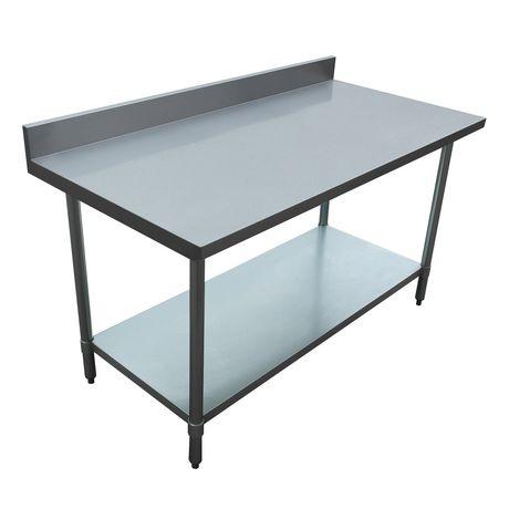Excalibur X Gauge Stainless Steel Work Table With - 30 x 60 stainless steel work table