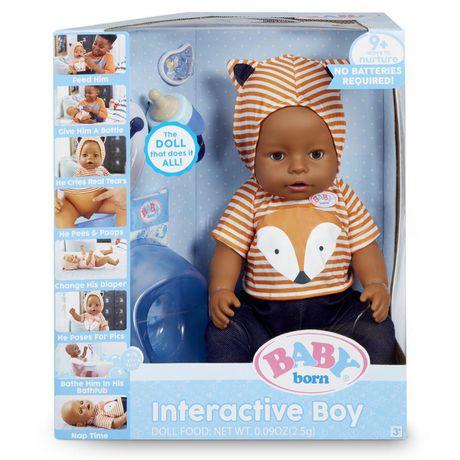 BABY born Interactive Boy – Brown Eyes with 9 Ways to Nurture - image 1 of 4