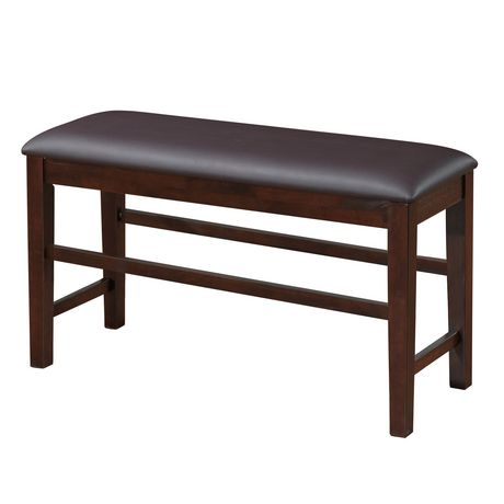 leather counter height dining bench 25 seat height for a 33 36 counter ...