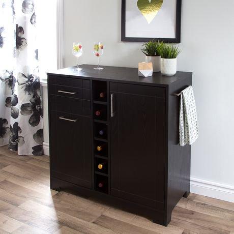 south shore meuble bar rangement pour bouteilles et coupes collection vietti walmart canada. Black Bedroom Furniture Sets. Home Design Ideas