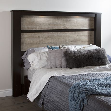 T te de lit avec lumi res int gr es de la collection for Chambre a coucher walmart