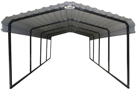 Arrow Black/Eggshell Steel Carport