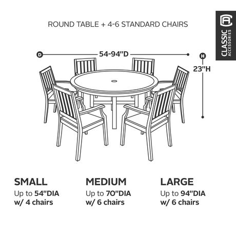 Classic Accessories Belltown Round Patio Table And Chair Cover