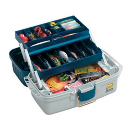 Plano 2 Tray Tackle Box with 2 Spinnerbait Holders - image 1 of 1