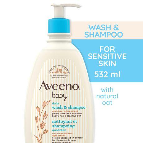 Aveeno Baby Gel pour cheveux et corps, Sans larmes, sans savon, sans parabènes, 532 ml - image 1 de 8