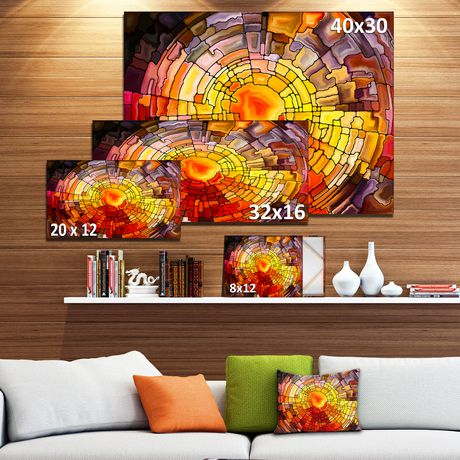 Design Art Return of Stained Glass Canvas Print - image 3 of 3