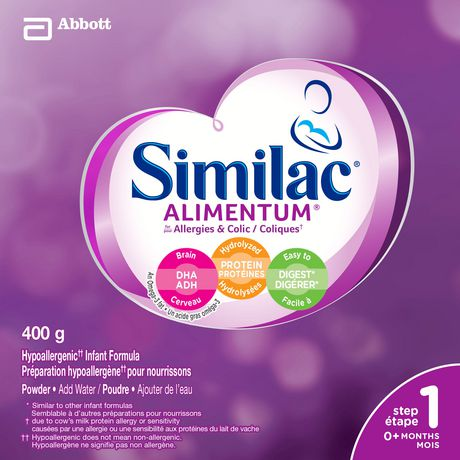 Similac Alimentum Hypoallergenic Baby Formula Powder with DHA, 400 g - image 2 of 9