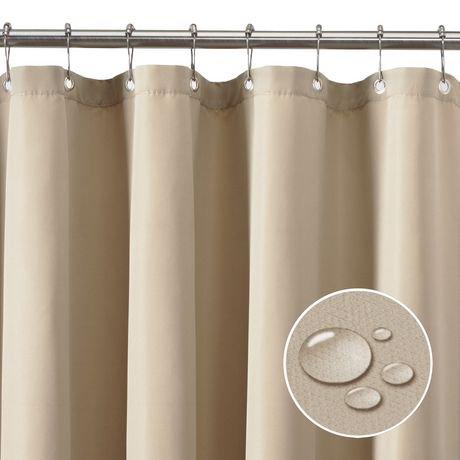 Doublure de rideau de douche en tissu imperm able de for Rideau de douche tissu impermeable