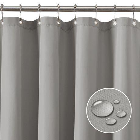 Doublure de rideau de douche en tissu imperméable de Mainstays ...