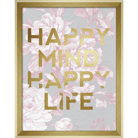 "RoomMates ""Happy life"" Shadowbox Wall Décor - image 1 of 1"
