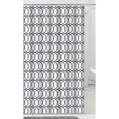 MAINSTAYS Fabric Shower Curtain with 12 Hooks - image 1 of 4