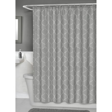 Hometrends Concord Fabric Shower Curtain