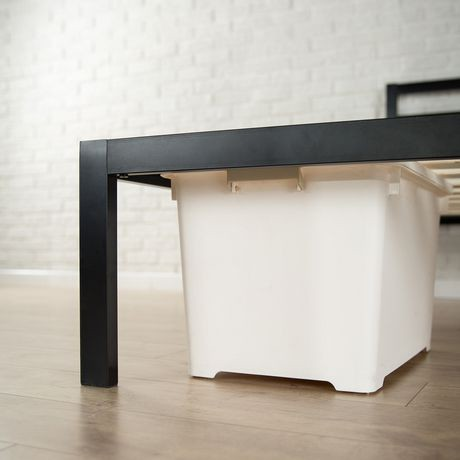 lit plateforme 1500h de zinus en m tal avec t te de lit walmart canada. Black Bedroom Furniture Sets. Home Design Ideas