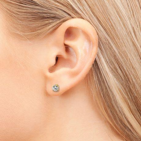 Pure316 - Boutons d'oreilles solitaires avec diamants 0,35 ct poids total en or jaune 18 k - image 3 de 3