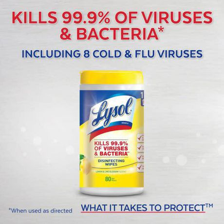 Lysol Disinfecting Surface Wipes, Citrus, 35 Wipes, Disinfectant, Cleaning, Sanitizing - image 2 of 7
