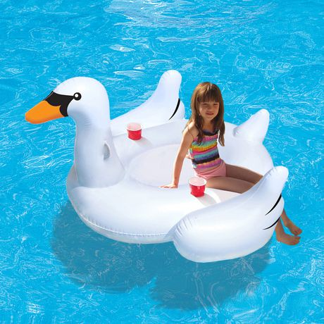 Blue Wave Elegant Giant Swan 73 Quot Inflatable Ride On Pool