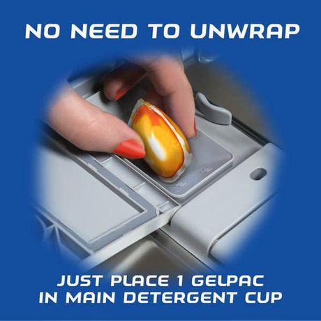 Finish® Gel Packs All in 1 Orange Dishwasher Detergent