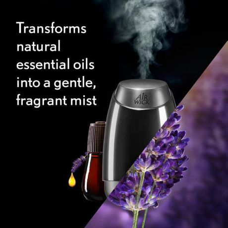 Air Wick Essential Mist Fragrance Oil Diffuser Kit, Lavender & Almond Blossom, 1 Diffuser + 1 Refill, Air Freshener - image 2 of 9