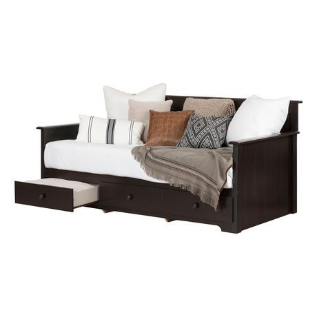 south shore summer breeze twin daybed with storage 39 walmart canada. Black Bedroom Furniture Sets. Home Design Ideas