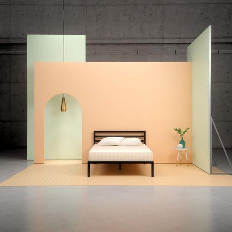 lit plateforme zinus avec cadre en acier. Black Bedroom Furniture Sets. Home Design Ideas