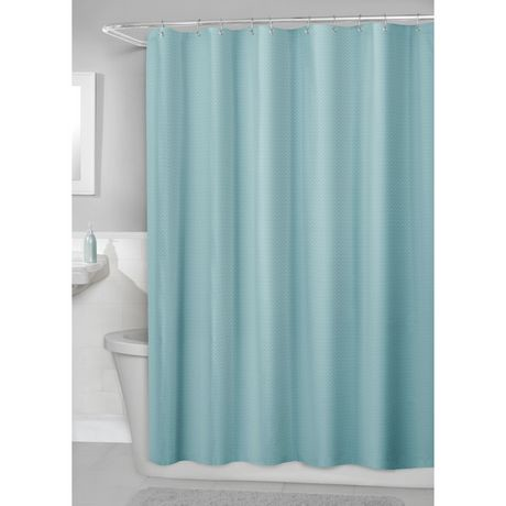hometrends Waffle Fabric Shower Curtain with PEVA Liner | Walmart ...