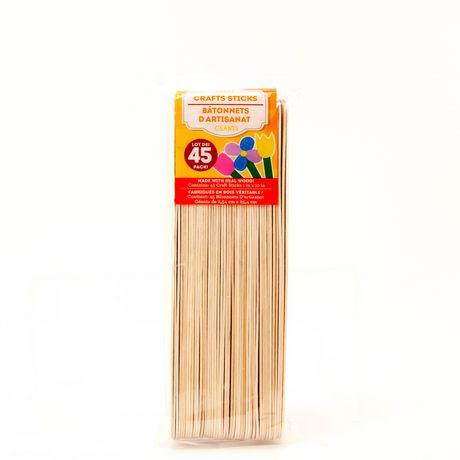 Horizon Group Usa Super Jumbo Wood Craft Sticks Walmart