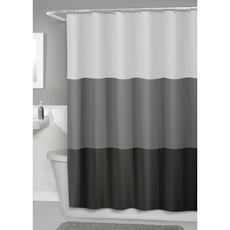 Hometrends Fabric Shower Curtain With PEVA Liner