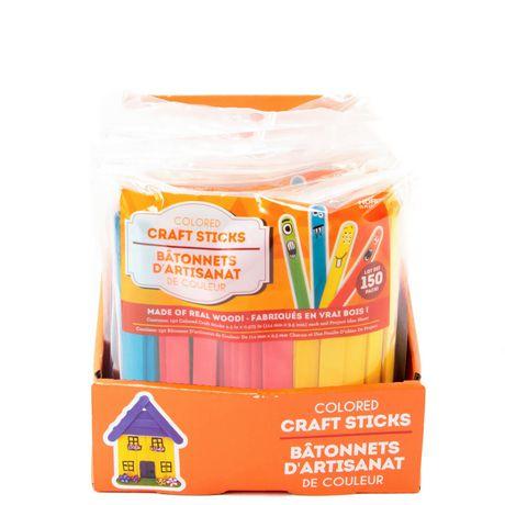 Bâtonnets d'artisanat en bois de couleur Horizon Group USA - image 1 de 2