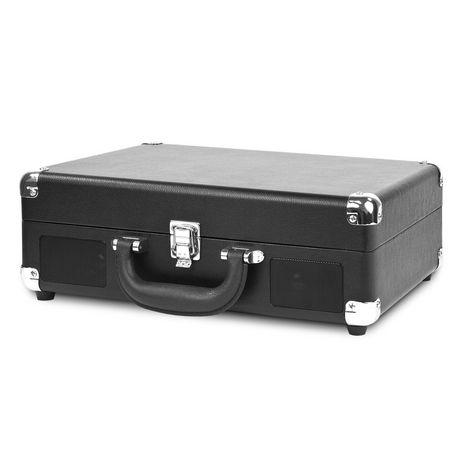 Joueur de disque portatif Victrola à Bluetooth de style vintage nostalgique en forme de valise - image 2 de 2