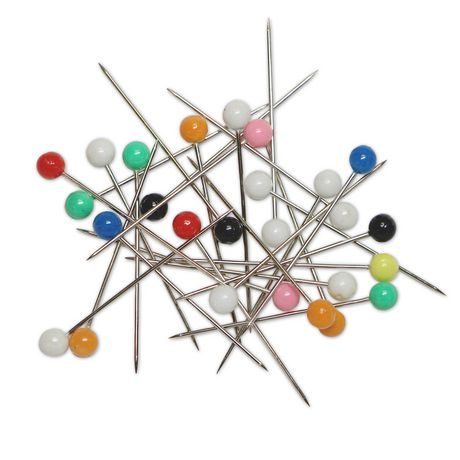 Unique Creativ Assorted Colour Plastic Head Pins - image 3 of 3