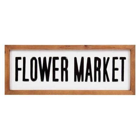 Flower Market Metal Sign - image 1 of 4