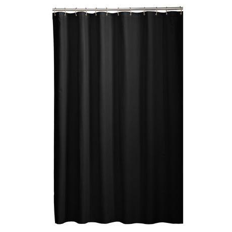 Mainstays Microfiber Fabric Shower Curtain Liner