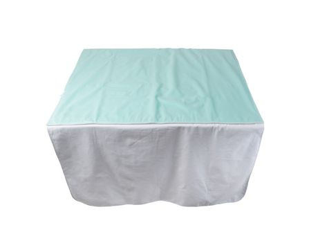 Protecteur réutilisable d'incontinence DMI en vinyle vert à 4 plis - image 2 de 3