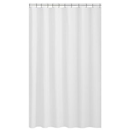 Mainstays Textured Microfiber Fabric Shower Curtain Liner